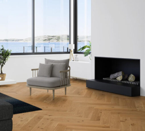 Boen Herringbone Click Animoso Oak Engineered Flooring Brushed & Oiled