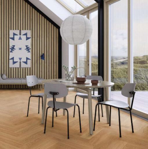 Boen Herringbone Click Adagio Oak Engineered Flooring Oiled