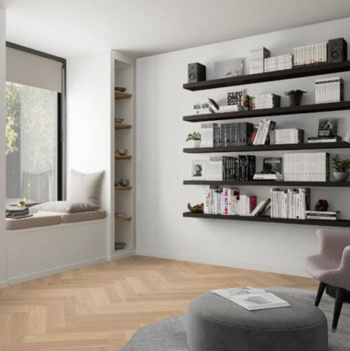 Boen Herringbone Click Adagio Oak White Engineered Flooring Oiled