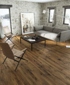 14mm Dark Stained Oak 5G Click Engineered European Oak Flooring Brushed & Lacquered 130mm