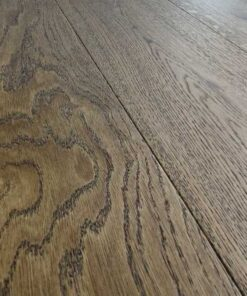 14mm Nutmeg Engineered Oak Flooring Brushed & Lacquered 190mm Wide