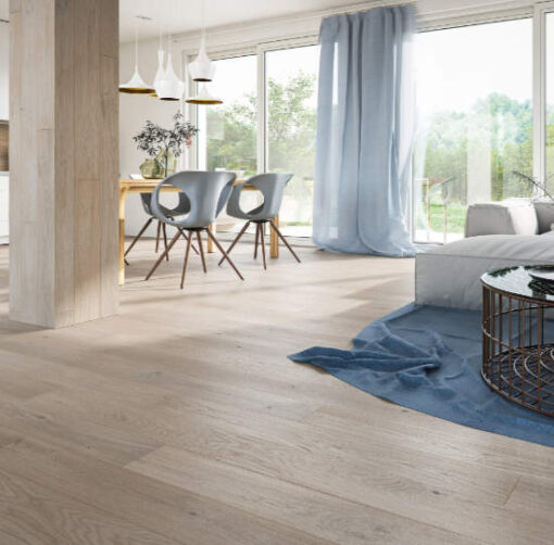 14mm Silver Oak 5G Click Engineered European Oak Flooring Brushed & Lacquered 130mm