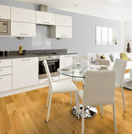 Timba 18mm Brushed & Oiled Engineered Oak Flooring 150mm Wide