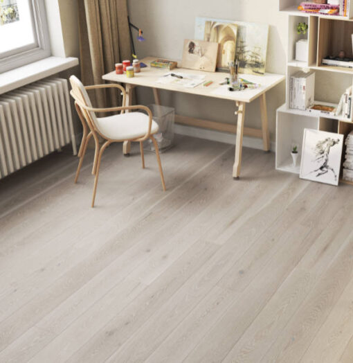 14mm 5G Click Clay Grey Engineered European Oak Flooring Brushed & Lacquered 180mm