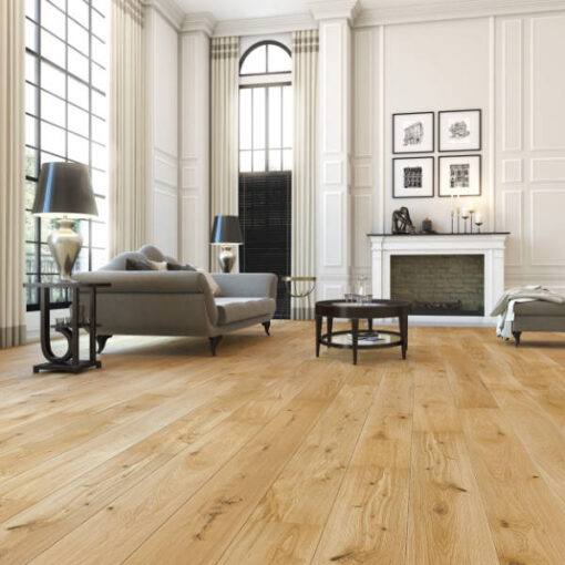 14mm 5G Click Engineered European Oak Flooring Brushed & Lacquered 207mm