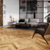Chevron Engineered Oak Flooring Brushed & Lacquered T&G
