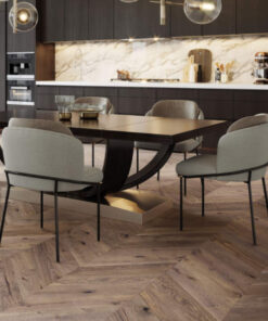French Chateua Chevron Engineered Oak Flooring T&G