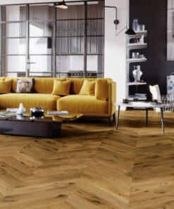 Smoked Chevron Engineered Oak Flooring T&G