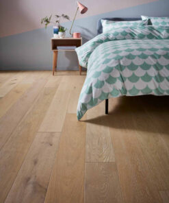 Contemporary Click Engineered Light Timia Oak Flooring Brushed & Lacquered