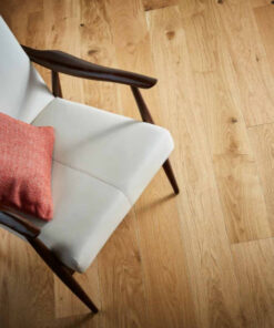 Contemporary Click Engineered Richmond Oak Flooring Brushed & Lacquered