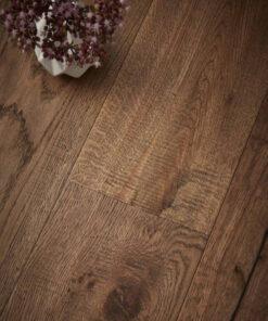 Contemporary Wyndham Hand Scraped Engineered Oak Flooring Natural Oiled